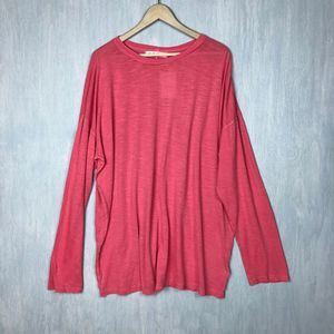 NWT Free People Moxie oversized tunic top S coral